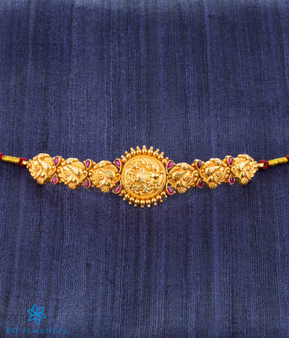 The Mayuraka Silver Bridal Armlet or Bajuband