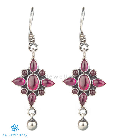 The Trisha Silver Earrings(Oxidised)