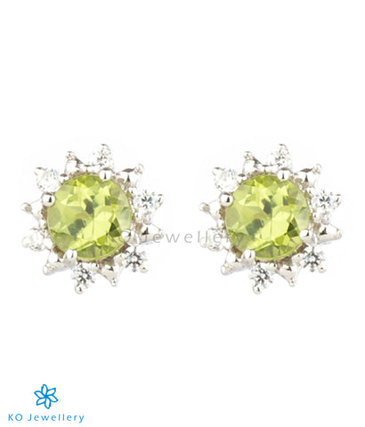 The Daisy Silver Ear-studs (Peridot)
