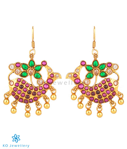 Exquisite gold plated pure silver temple jewellery designs