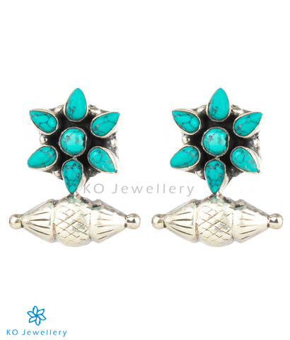 The Taraash Silver Gemstone Earrings (Turquoise)