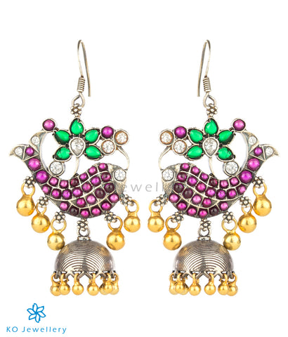 The Kantakin Silver Fish Jhumka (Two-tone)