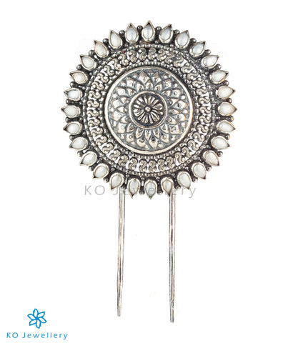 The Kavika Silver Pearl Hair Pin