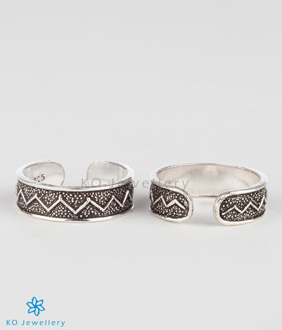 The Parul Silver Toe-Rings