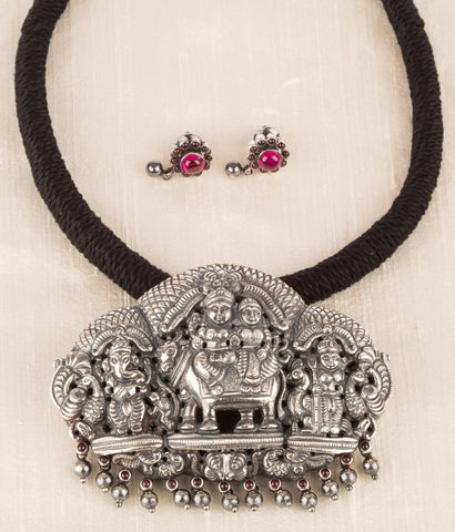 The Sharva Silver Deity Necklace