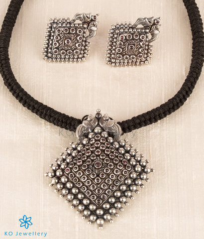 The Samyavana Silver Pendant Set