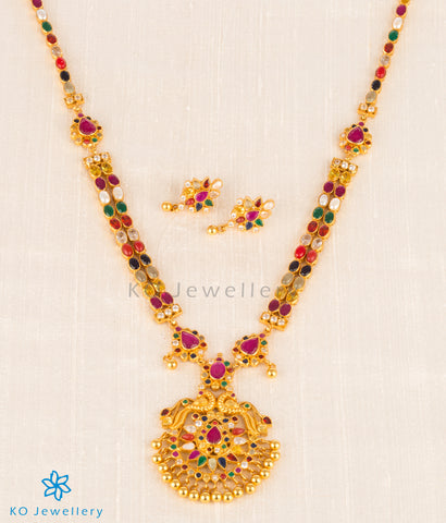 gold plated Indian bridal jewelry set online at KO