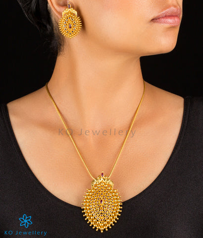 The Varshini Silver Pendant Set