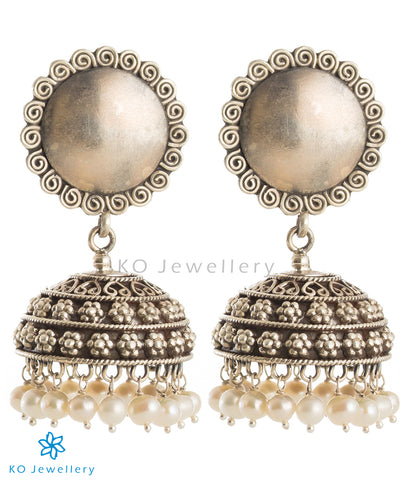 The Charit Silver Jhumka