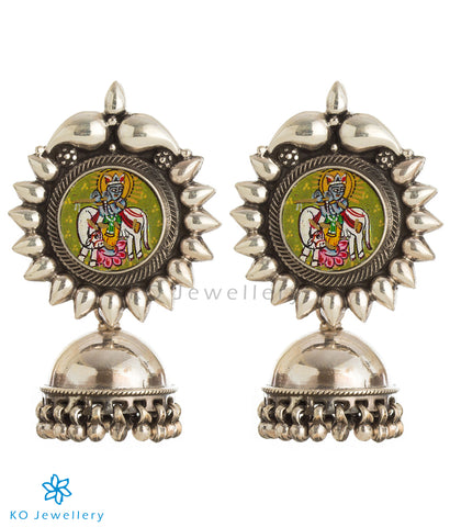 The Devesh Silver Jhumka