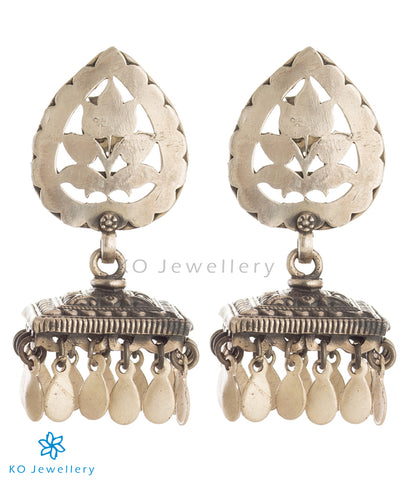 The Jia Silver Antique Jhumka