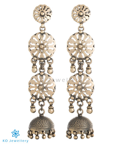 The Samhita Silver Jhumka