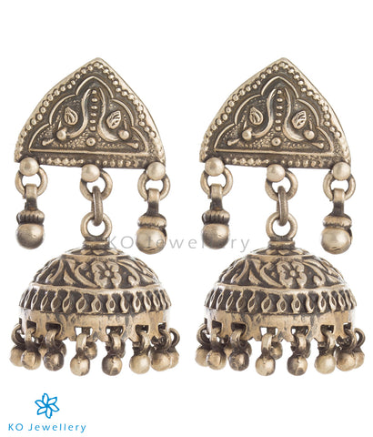 The Dhriti Silver Jhumka