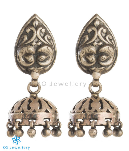 The Riddhi Silver Peacock Jhumka
