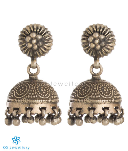 The Shakya Silver Jhumka