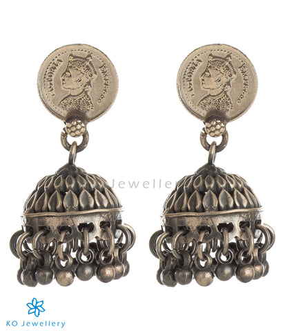 The Niska Silver Antique Coin Jhumka