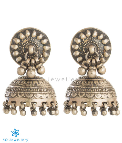 The Adyah Silver Jhumka