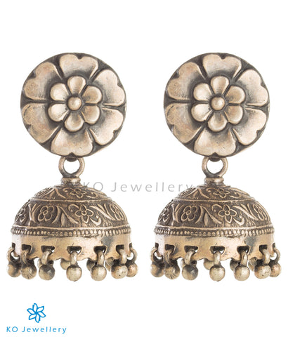 The Pauspa Silver Jhumka
