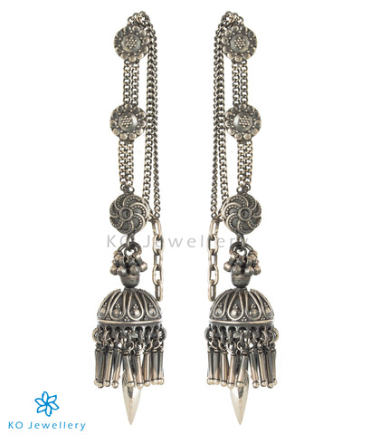 The Aadya Silver Jhumka