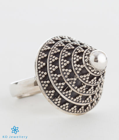 The Charit Silver Cocktail Finger Ring