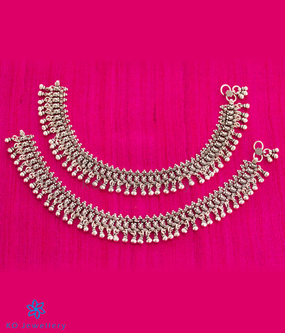 The Charulata Silver Anklets