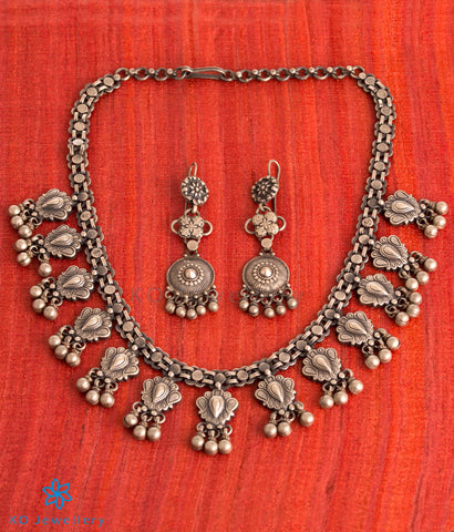 The Morpankh Silver Antique Necklace