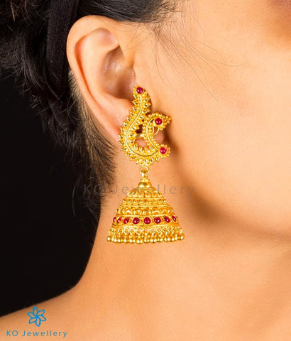 The Mayura Silver Peacock Jhumka