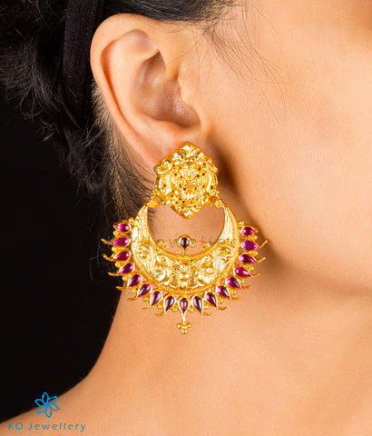The Shri Silver Chand Bali Earrings
