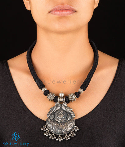 The Nayana Silver Peacock Necklace