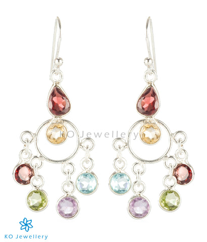 The Ahana Silver Gemstone Earrings