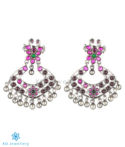 The Zikhin Silver Chand Bali Earrings (Oxidised)