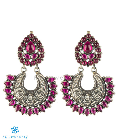 The Prakriti Silver Antique Chand-Bali Earrings (Oxidised)