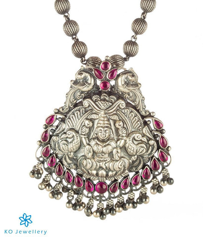 The Shreya Silver Lakshmi Pendant