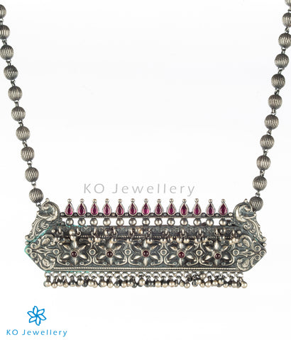 The Prajya Silver Antique Necklace