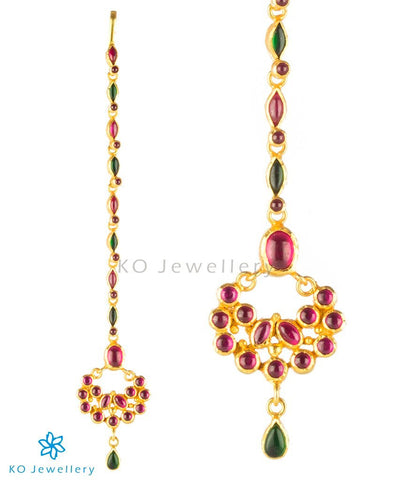 Temple jewellery maang tikka borla for Indian bride