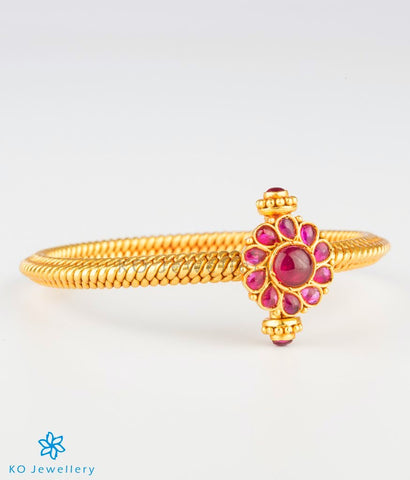 The Aarav Antique Silver Golusu Bangle