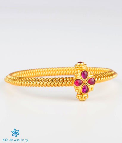The Ananya Antique Silver Golusu Bangle