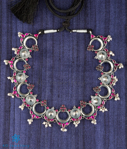 The Sarva Silver Kemp Necklace (Oxidised)