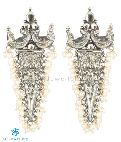 The Makara Silver Antique Pearl Earrings