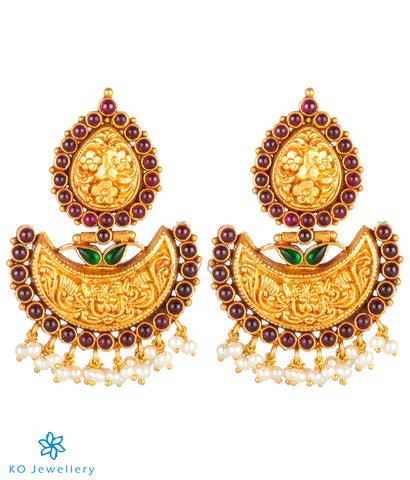 The Samhat Silver Antique Chand-Bali Earrings