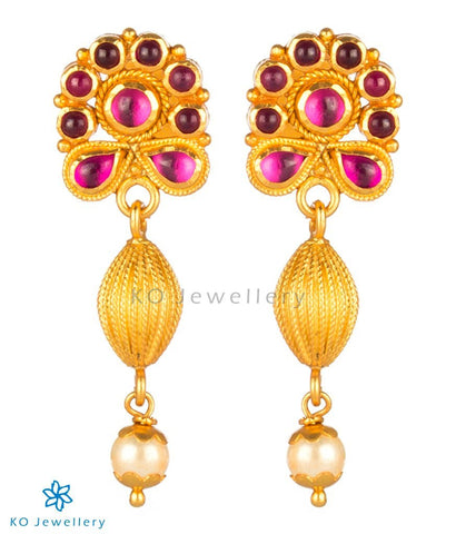 The Kamini Silver Kempu Earrings