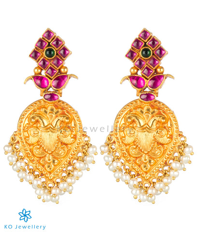 The Dvidha Silver Antique Chand-Bali Earrings