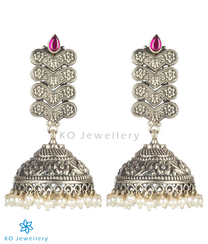 The Dhitika Silver Jhumka