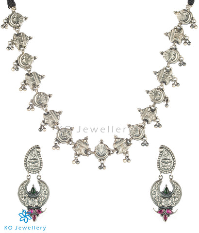 The Abhyudaya Silver Necklace