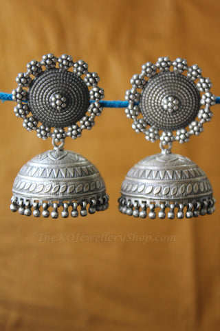 Shop online for women's silver antique jhumka