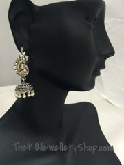 temple jewellery jhumkas for women