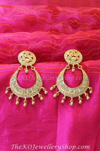 North indian ethnic gold dipped jhumkas shop online