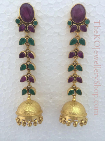The Avantika Silver Jhumka