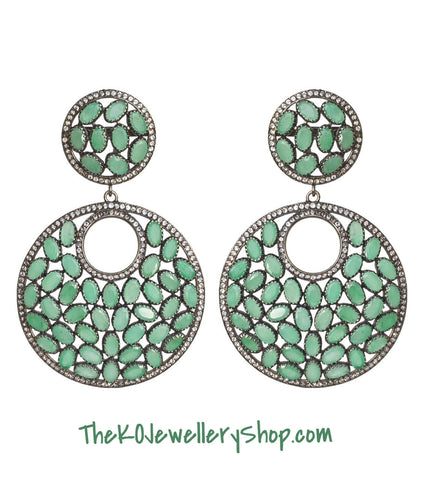 The Radiant Emerald Earrings