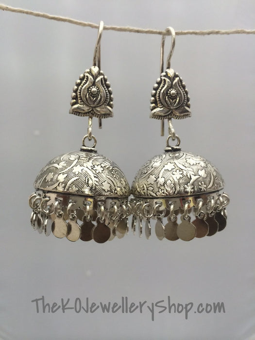 jhumka antique silver jewellery online shopping